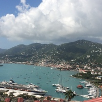 View of St. Thomas from the top